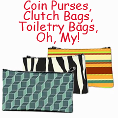Coin Purses, Clutch Bags, Toiletery Bags